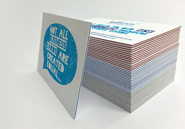 Multi-layered premium business cards