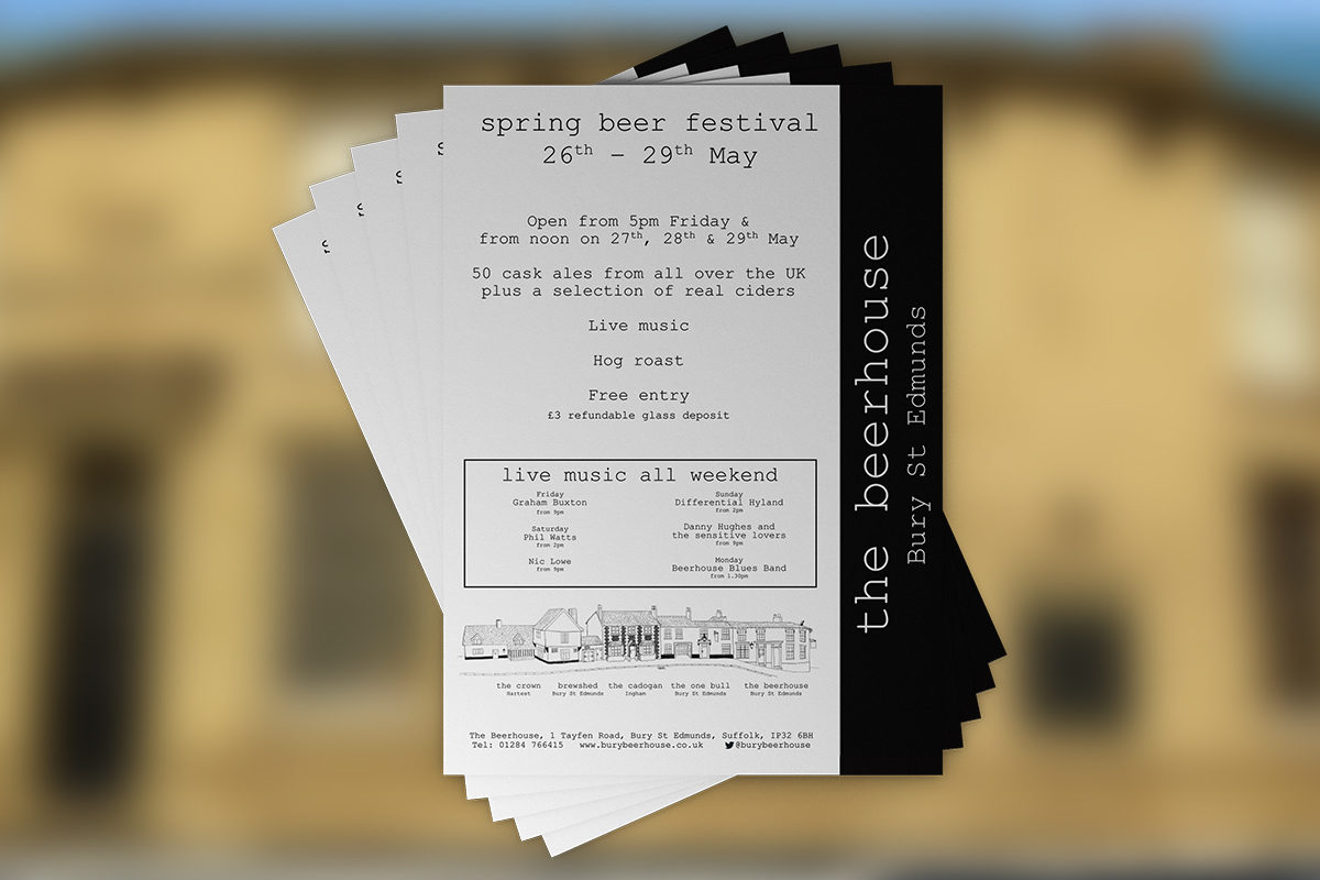 Beer festival printed flyer