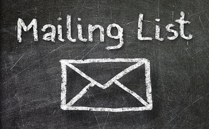 Building a good e-mail list