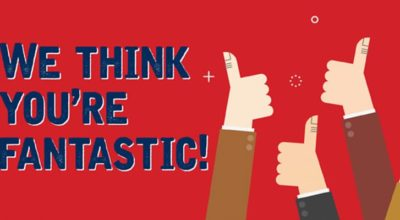 We think you're fantastic!