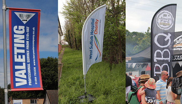 Attract potential customers with our flag printing service!