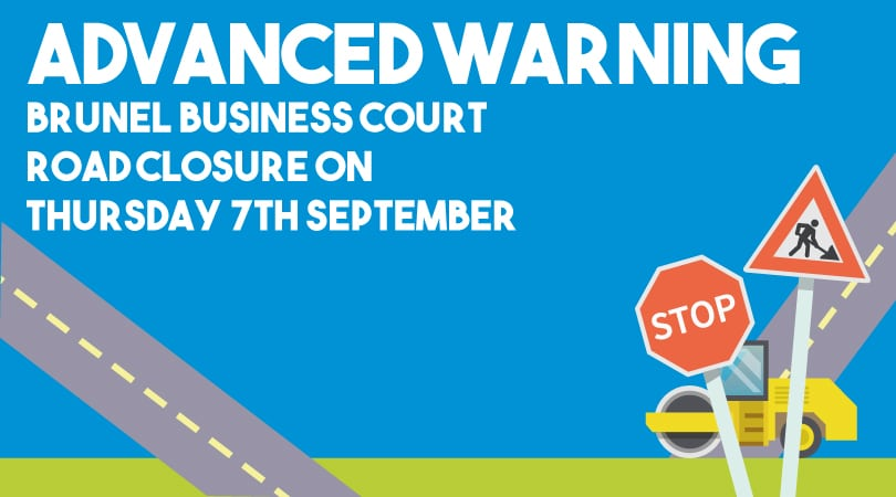 Advanced warning – Road Closure on 7th September