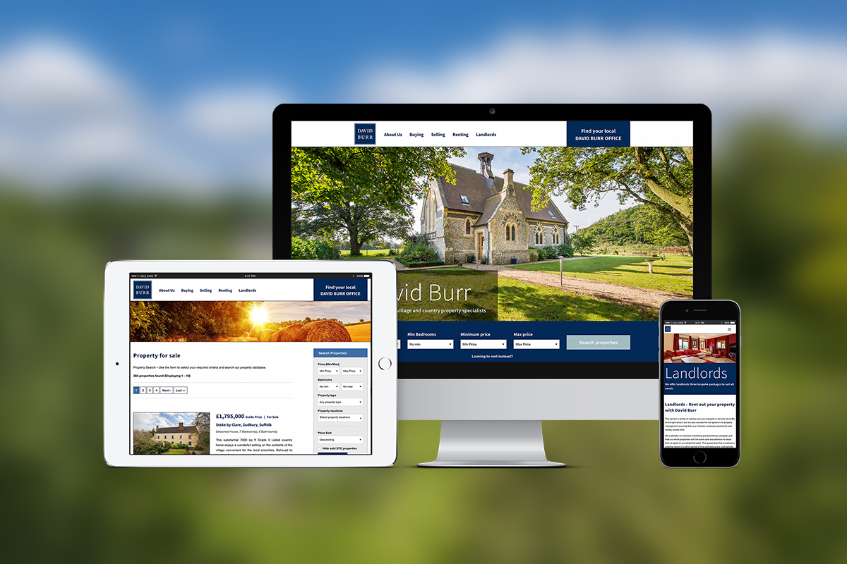 David Burr Estate Agents website