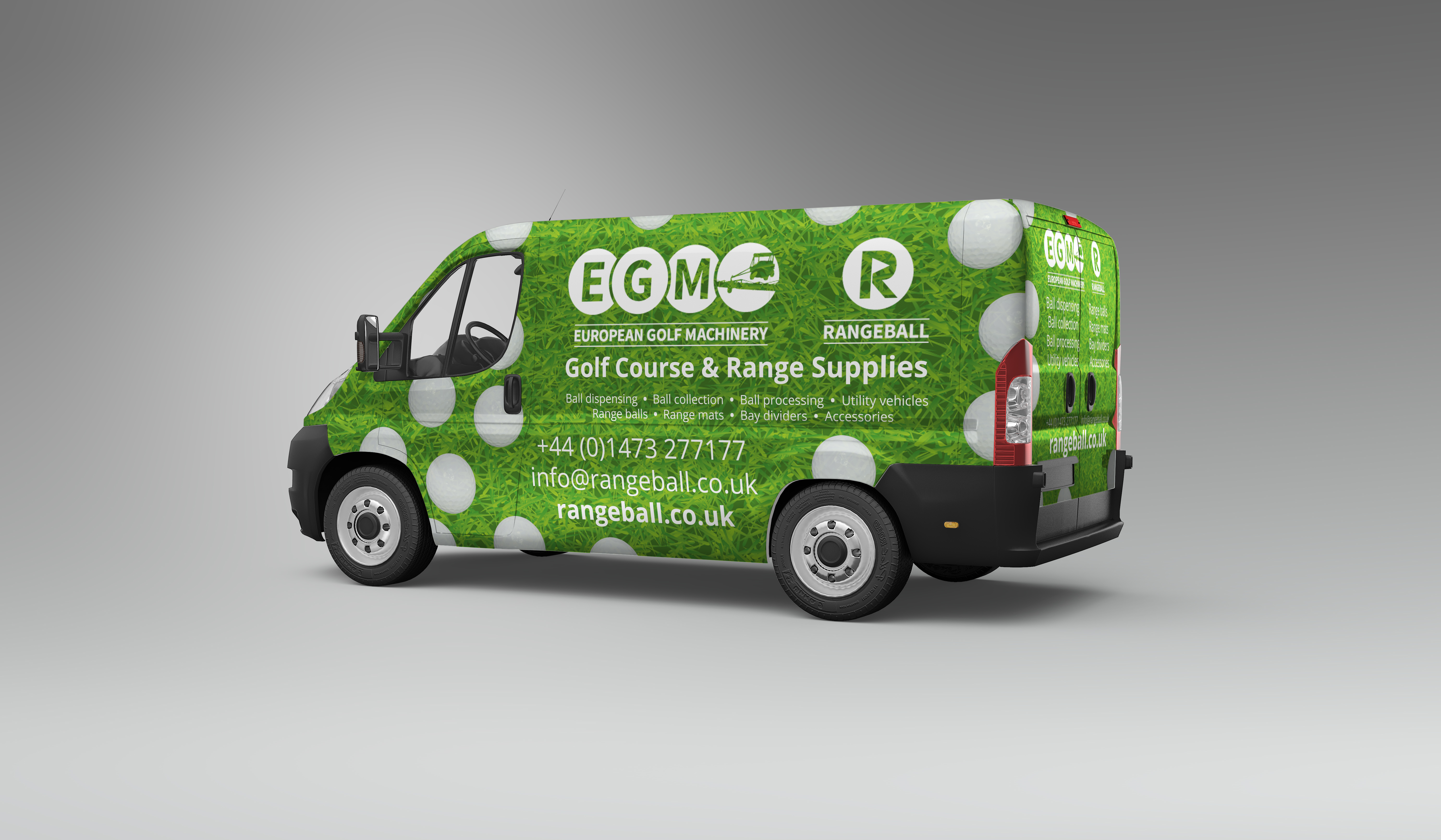 Van with printed vehicle livery