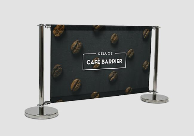Café Barriers & Banners