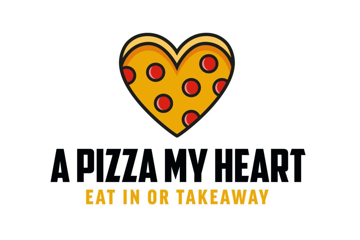 A pizza my heart logo