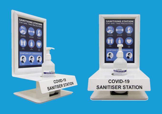 Hand sanitiser dispenser stations