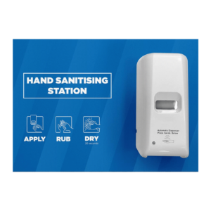 Automatic hand sanitising stations