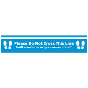 Do Not Cross Floor Sticker