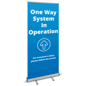 One Way System Roller Banner