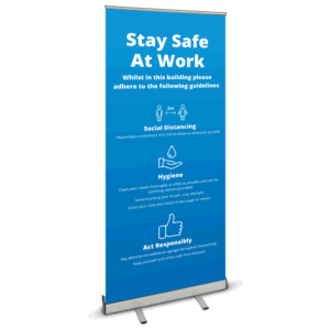 Safety At Work Roller Banner