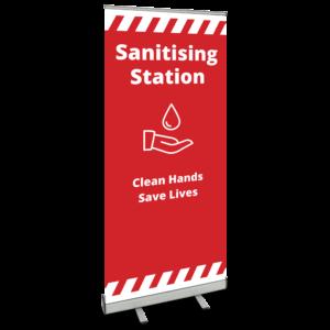 Sanitising Station Roller Banner