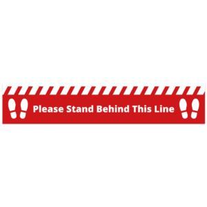 Behind This Line Floor Sticker