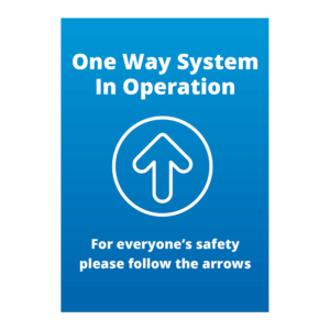 One Way System In Operation Signage