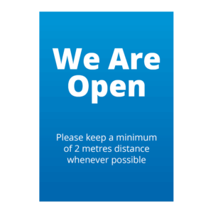 We Are Open Signage